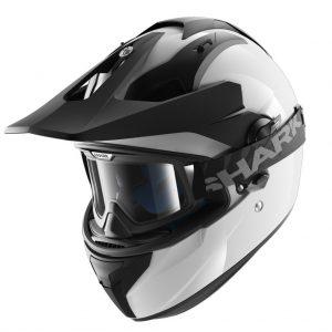 shark-helmets-explore-r-blank-white-HE6150WHU-face-left-goggles-peak